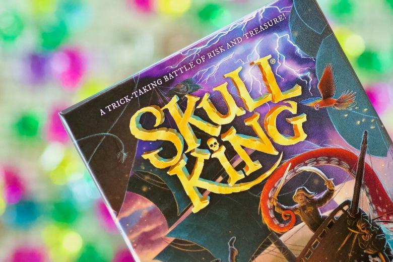 Lovely new box cover art by April Stott in Skull King by Grandpa Beck's Games