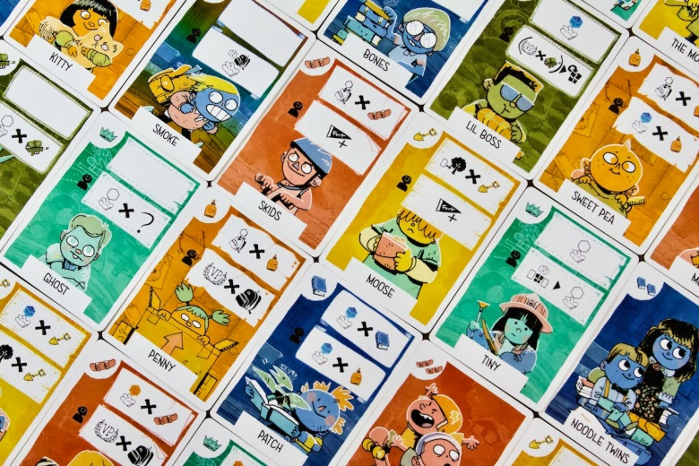 The children of Fort by Leder Games; just a small variety of available kid cards to play with
