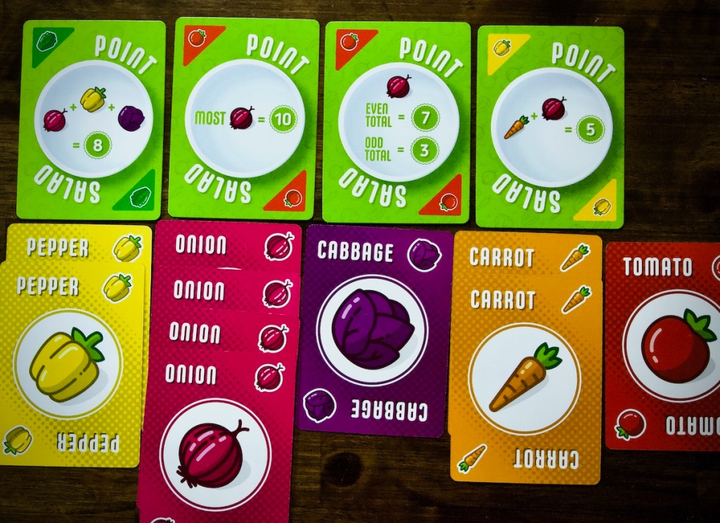 A player's vegetable collection that may score a lot of points, Point Salad by AEG, Flatout Games