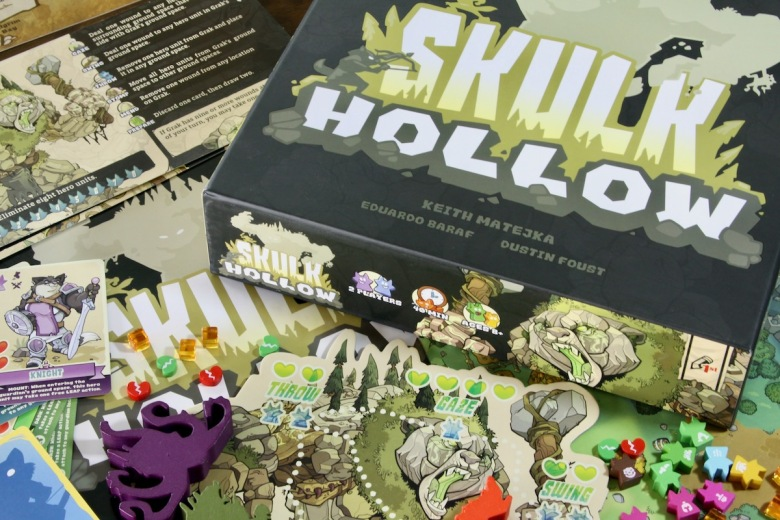 Board Game components from Skulk Hollow by Pencil First Games featuring foxes heroes and guardians