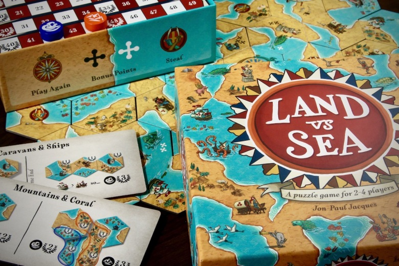 Land vs. Sea by Good Games Publishing components and what is in the box