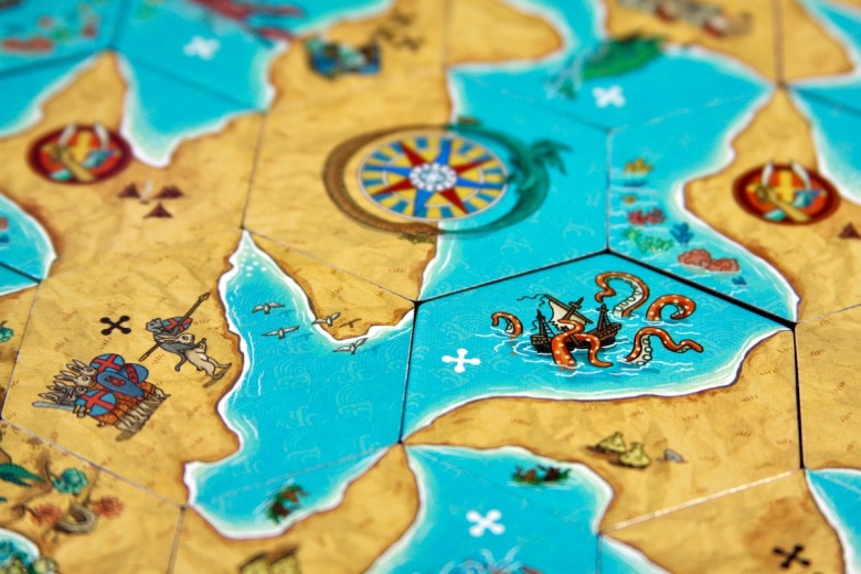 Land vs. Sea by Good Games Publishing - example of board game featuring rabbit knights and the kraken