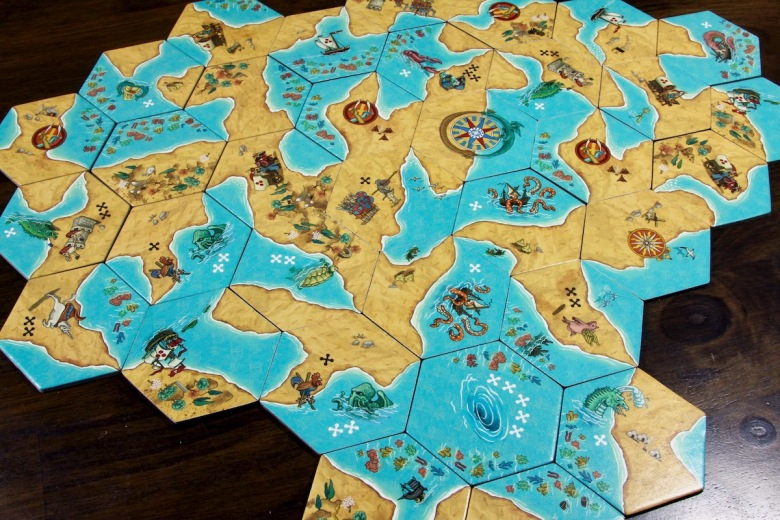 Tile Placement Map in Land vs. Sea by Good Games Publishing