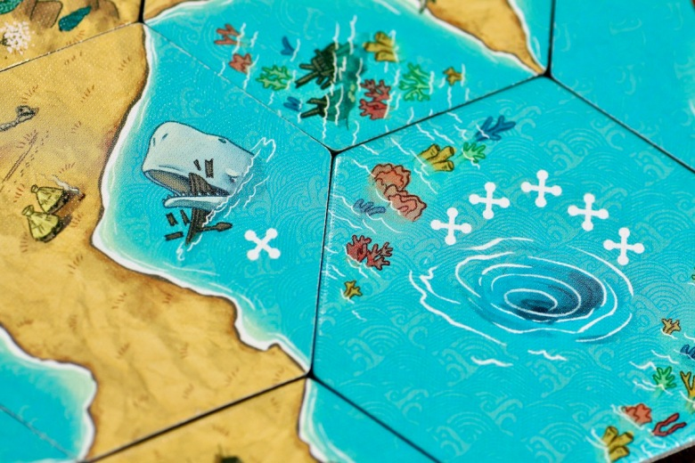 Land vs. Sea by Good Games Publishing - whirlpool and whale