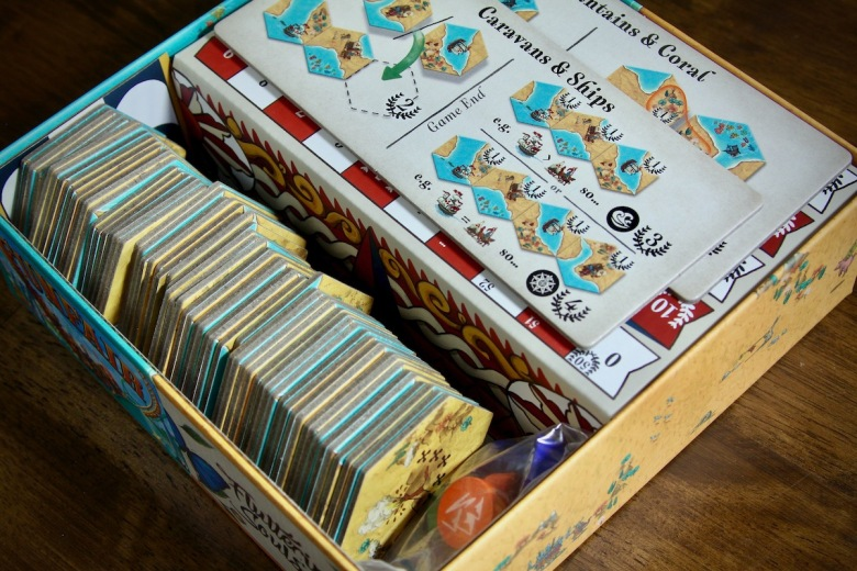 Land vs. Sea by Good Games Publishing - box insert with components nestled inside