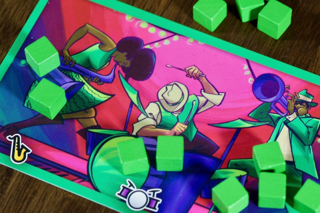 Vibrant art of New Orleans Jazz featured in Big Easy Busking by Good Giraffe Games